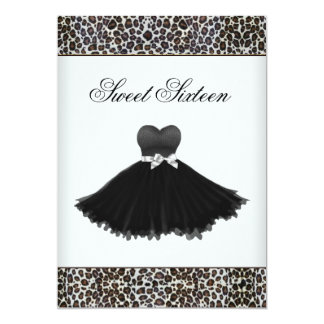 Leopard Chandelier Sweet Sixteen Birthday Party Card