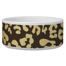 Leopard Cheetah Animal Skin Print Gold Glam Chic Bowl