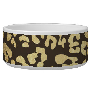 Leopard Cheetah Animal Skin Print Gold Glam Chic Bowl