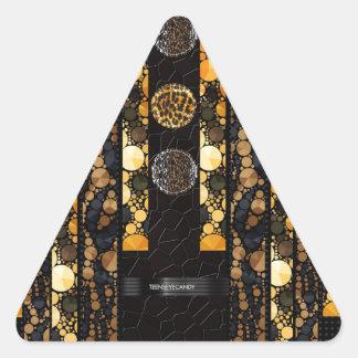 Leopard Cheetah Bling Triangle Sticker