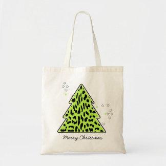 Leopard cheetah Christmas Tree Bag