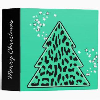 Leopard cheetah Christmas Tree Binder