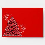 Leopard cheetah Christmas Tree Envelope