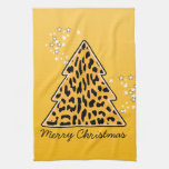 Leopard cheetah Christmas Tree Towel