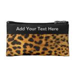 Leopard Cheetah Cosmetics Bags
