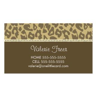 Leopard-Cheetah Print Business Card
