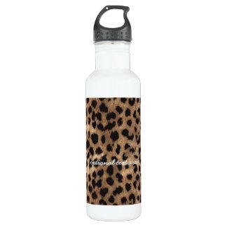 Leopard Cheetah Print Glamour Girls Water Bottle