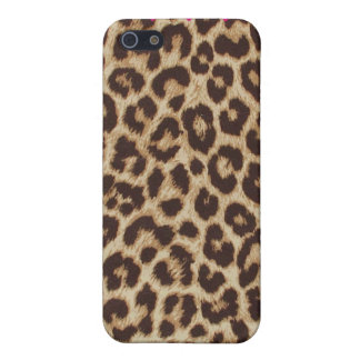 Leopard Chic Print Heart Case iPhone 5 Cover