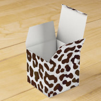 Leopard Chocolate Print Favor Box