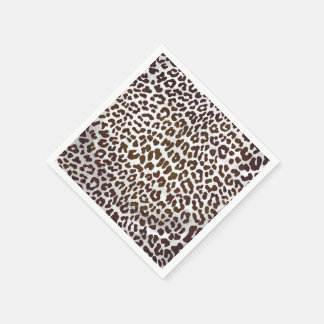 Leopard Chocolate Print Standard Cocktail Napkin