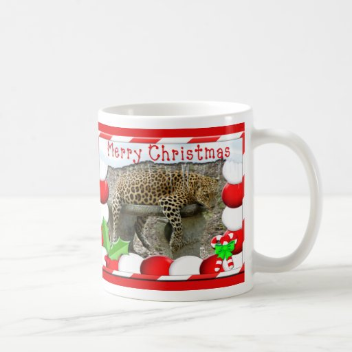 Leopard Christmas Mug