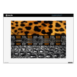 "Leopard Crocodile Texture Decals For 15"" Laptops"