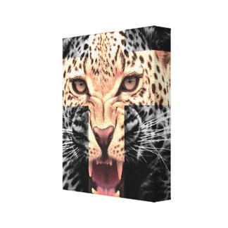 Leopard Cross Hipster Canvas Print