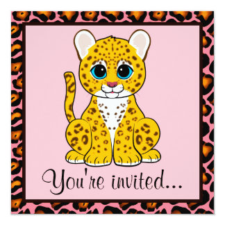 Leopard Cub Birthday Card