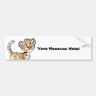 Leopard Cub Bumper Sticker