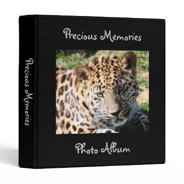 Christmas Themed Leopard cub cute baby photo album, binder