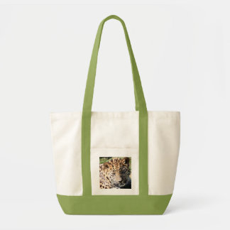 Leopard cub cute photo shopping tote bag