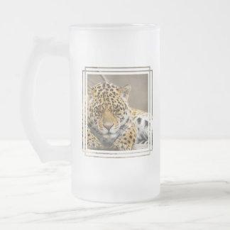 Leopard Cub Frosted Beer Mug
