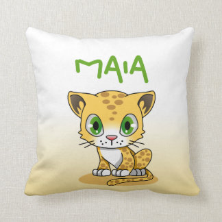 Leopard Cub Personalized Pillow