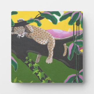 leopard cub plaque