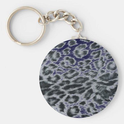 leopard design key chains