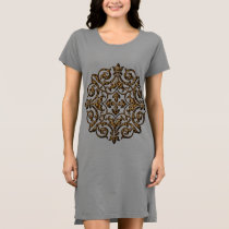 Leopard Design Nightgown Dress