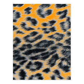 leopard design postcard