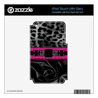 Leopard Diva Monogram iPod Touch 4G Decals