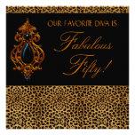 Leopard Diva Womans Fabulous 50 Birthday Party Invitation