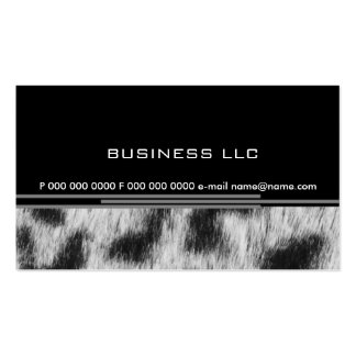 Leopard Double-Sided Standard Business Cards (Pack Of 100)