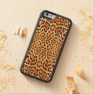 leopard elegant fur carved maple iPhone 6 bumper case