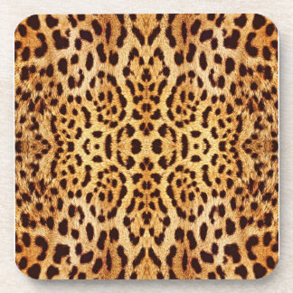 leopard elegant fur coaster