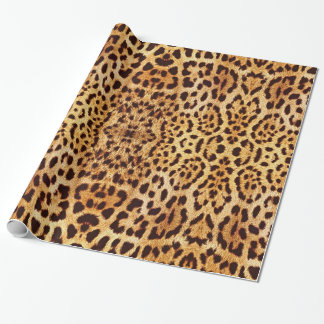 Leopard elegant fur wrapping paper