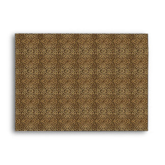leopard envelope matching set