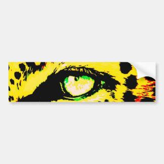 Leopard Eye Car Bumper Sticker