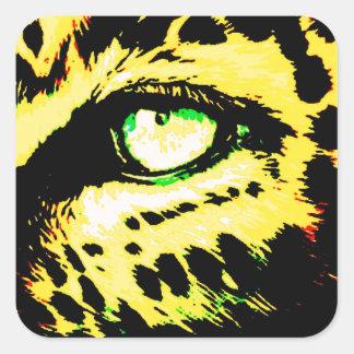 Leopard Eye Square Sticker