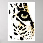 Leopard Eyes Poster - Pop Art Wild Animals