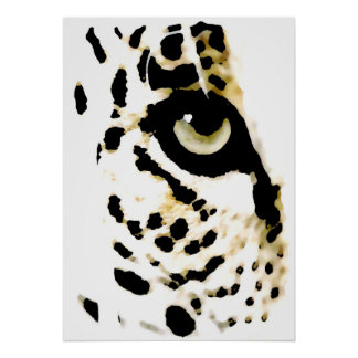 Leopard Eyes Poster - Pop Art Wild Animals