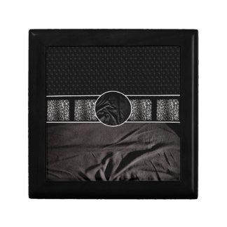 Leopard Fabric Monogram Jewelry Box