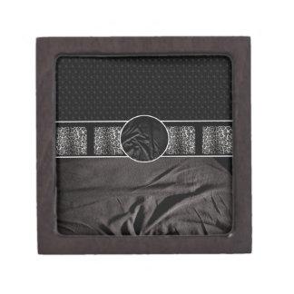 Leopard Fabric Monogram Premium Trinket Box