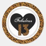 Leopard: Fabulous 13 Birthday Stickers