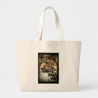 Leopard face canvas bag