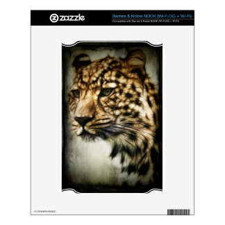 Leopard face decal for NOOK