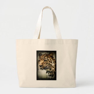 Leopard face jumbo tote bag