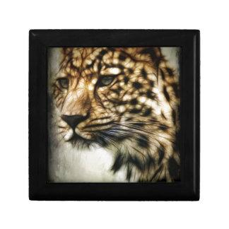 Leopard face keepsake box