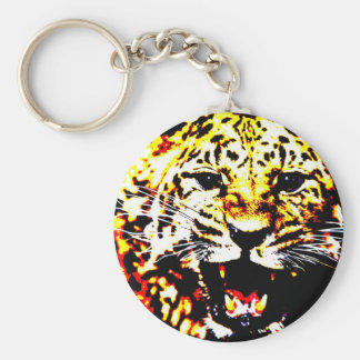 Leopard Face Keychain