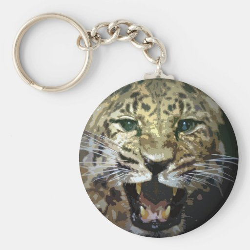Leopard Face Keychains