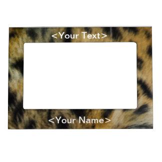 Leopard Face of Hunger Magnetic Photo Frame