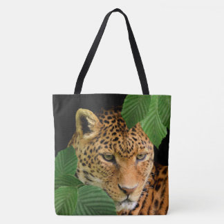 Leopard Face or Your Ohoto Custom Tote Bags