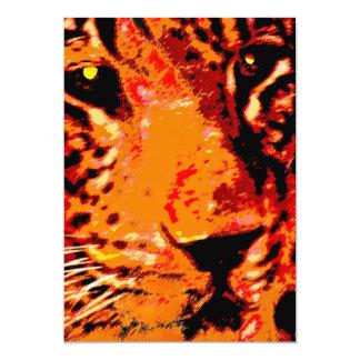 Leopard Face, Orange (1) Card